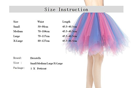 Vert Dresstells Couleurs Ballet varies en Tutu Jupon Tulle Fonc Court Jupe qzwqHxaC
