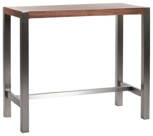- Moe's Home Collection 47 by 23 by 41-Inch Riva Bar Table, Walnut Veneer
