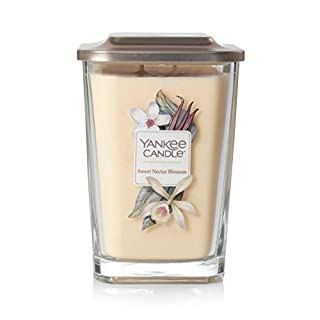 Yankee Candle Elevation Collection with Platform Lid Sweet Nectar Blossom Scented Candle, Large 2-Wick, 80 Hour Burn Time