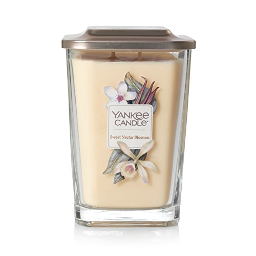 Yankee Candle Company Elevation Collection with Platform Lid, Large 2-Wick Square, Sweet Nectar Blossom