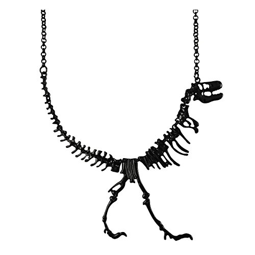 JANE STONE Dinosaur Vintage Necklace Short Collar Fashion Costume Jewelry for Women Teens (Black)
