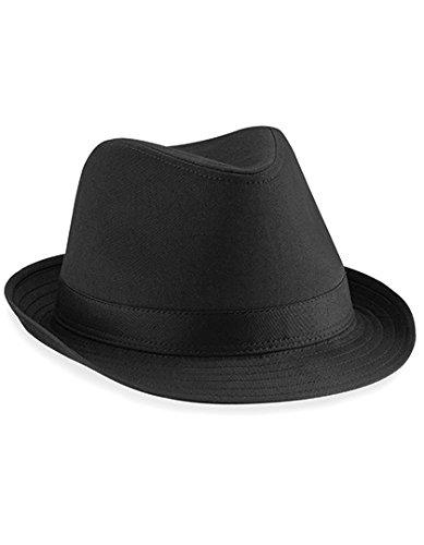 a31062eae Beechfield Unisex's Fedora Hat, Black, Small/Medium X-Large