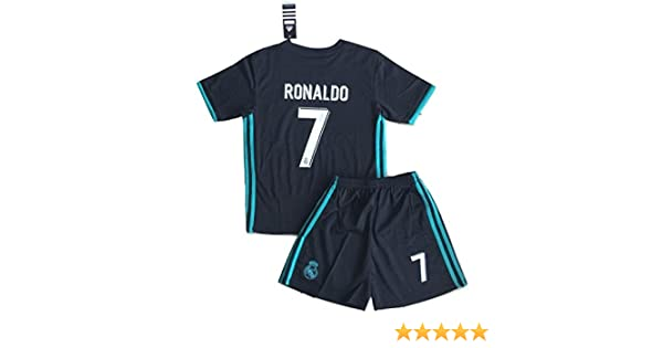 5130c106f94 Amazon.com  New  7 Ronaldo 2017 2018 Real Madrid Away Jersey   Shorts For  Kids Youths (9-10 Years Old)  Clothing