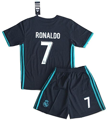 Ronaldo #7 NEW Real Madrid Away Jersey & Shorts for Kids (7-8 Years ()