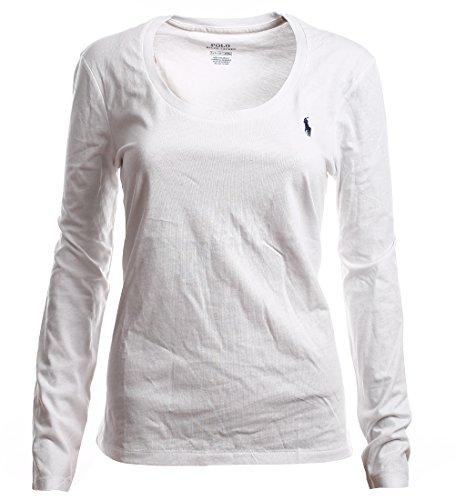 Ralph Lauren Polo Damen Rundhals Langarmshirt Longsleeve Shirt Weiß Größe XS afa0b73f7c