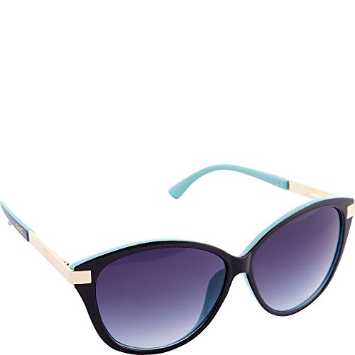 Nanette by Nanette Lepore Women's Nn101 Oxtq Cateye Sunglasses, Black/Turquoise, 59 - Nanette Lepore By Sunglasses