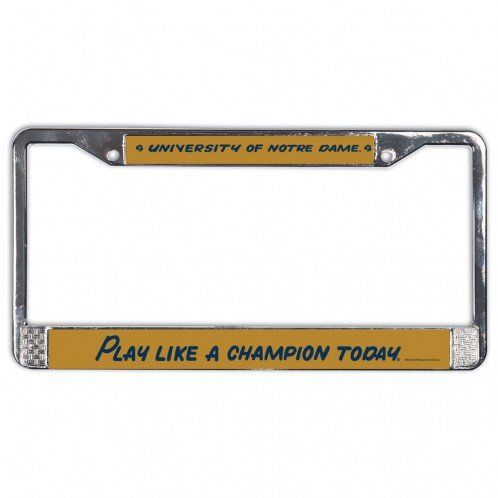 NCAA Notre Dame USA Metal License Plate Frame College License Plate Frames
