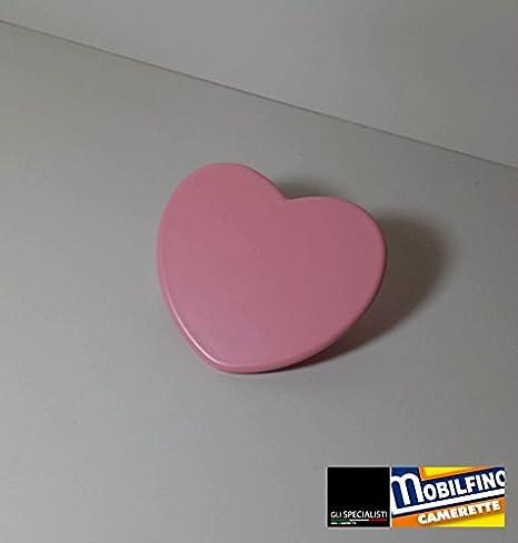 Maniglia Cuore Rosa ↔ 32mm cameretta Armadio Design Pink ...