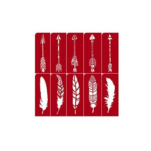 (Darice Arrow & Feather Stencil: 12 X 12