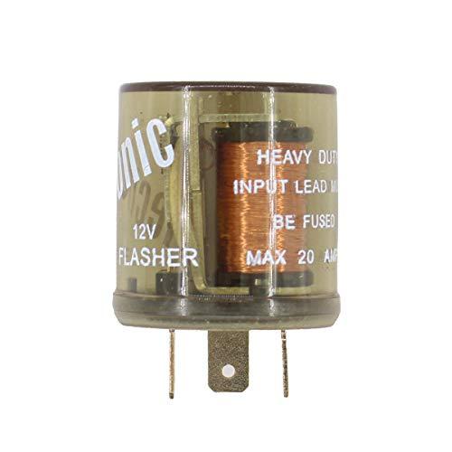 XtremeAmazing 12V 3 Pin Round Heavy Duty LED Electronic No Load Fixed Turn Signal Flasher - Turn Pickup Signal Flasher