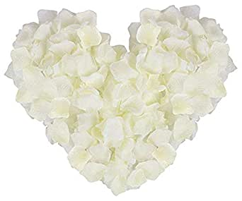 Rose Petals 2000pcs Silk Artificial Fabric Flower for Valentine Ceremony Wedding or Home Hotel Garden Bouquet Party Decorations - off White