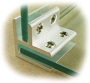 10,00 mm PMC Edelstahl Inox V4A MOD:23 Glashalter Verbinder Glasklemme Glass Clamp Inox 90/° Ecke Eckige form/_alle