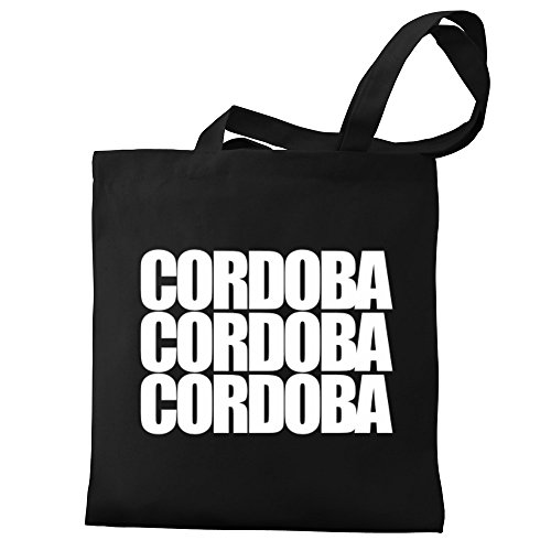 Cordoba three words Eddany Canvas Tote three Tote words Eddany Bag Cordoba Bag Canvas wqpaFSUU