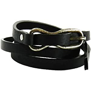 Streets Ahead – Skinny Hip Black Belt - Medium