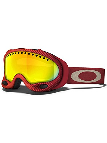 Oakley A Frame Half-Tone Crimson Adult Snow Snowmobile Goggles Eyewear - Fire Iridium / One Size Fits - A Oakley Frame