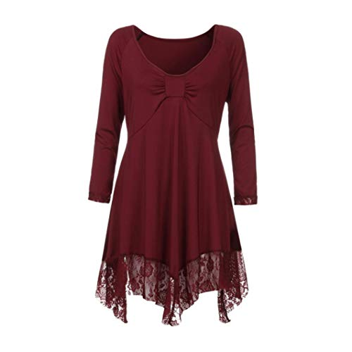 Uni Rond Xmiral Red Chemise Body Manches Longues Femme Col Chemisier qZSStrfv