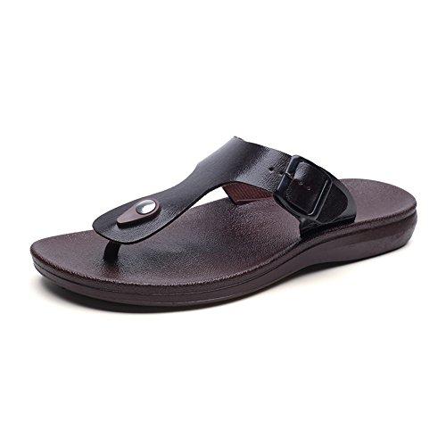De Slippers Brown Holgazán Beach Con Cuero Hombre Zapatos Chanclas On Slip Summer GSHE De Shoes 6ZgEqFwwO