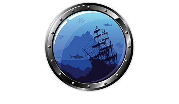 Amazon Com Pirates On The Ocean Floor Sticker Decal 4 X 4