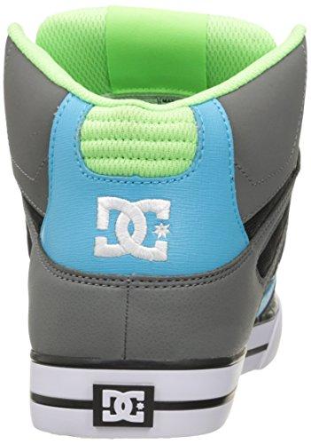 Dc Mens Spartano Alte Scarpe Da Skate Wc Grigio / Verde / Blu