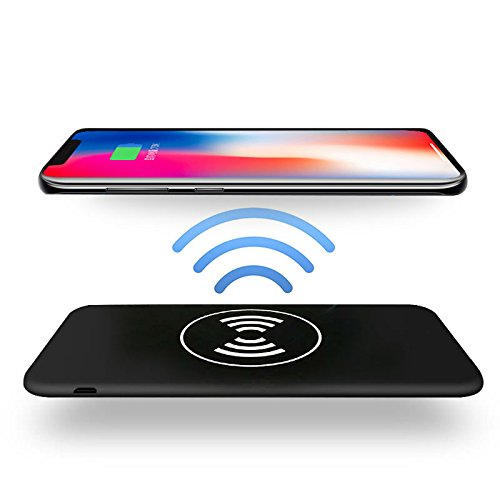 Wireless Charger Power Bank, Huafly Portable Power Bank Charger 10000mah QI Wireless Charging Pad for Samsung Galaxy Note 8 S8 and Standard Charge for iPhone X / 8 / 8 Plus