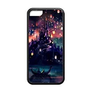 meilinF000CTSLR Laser Technology Cartoon Film Tangled TPU Case Cover Skin for Cheap Apple iphone 4/4s-1 Pack- Black - 6meilinF000