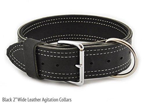17-23\ Leerburg Large 2  Wide Amish Leather Agitation Collar, 17-23 , Black