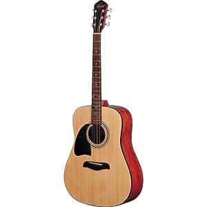 Oscar Schmidt OG2 Left-Handed Dreadnought Acoustic Guitar - Natural