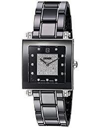 Fendi Women's 'Ceramic' Swiss Quartz Dress Watch, Color:Black (Model: F625110DPDC)