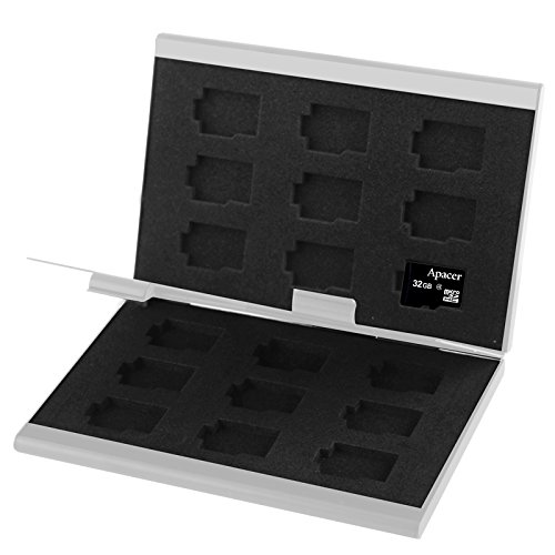 CAOMING 2X 9 in 1 Memory Card Protective Case Box for TF Card, Size: 93mm (L) x 62mm (W) x 10mm (H) (Color : Silver) by CAOMING
