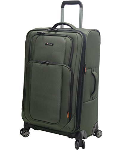 pathfinder-luggage-presidential-midsize-25-suitcase-with-spinner-wheels-25in-olive