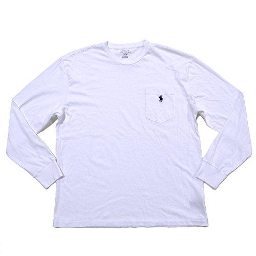 Polo Ralph Lauren Mens Pocket Long Sleeves Casual Shirt White L (Polo Ralph Lauren Pocket)