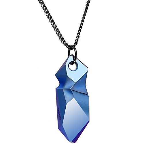 metallic-blue-kaputt-pendant-designed-by-jean-paul-gaultier-curb-chain-adjustable-necklace