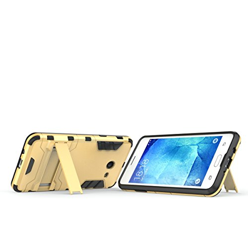 Galaxy J5(2017) Coque,EVERGREENBUYING Ultra Slim l¨¦ger 2 en 1 SM-J530F Cases Housse Etui Premium Kickstand Bumper Hard Shell Back Coque Case Pour Samsung GALAXY J5 (2017) Bleu