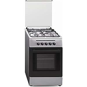 Vitrokitchen CB55IB - Cocina (53 L, 1800 W, propano/butano, Gas, Giratorio, Frente) Acero inoxidable