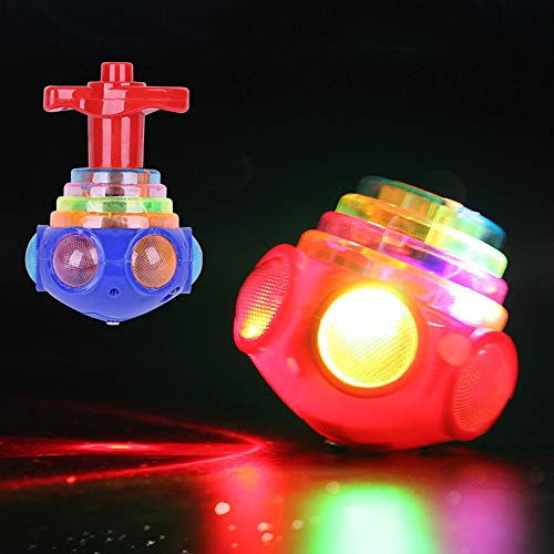 Hot Sale!DEESEE(TM) Funny LED Light Up Tiny Toy Fidget Spinner Stress Relief Gift Gyroscop Toy