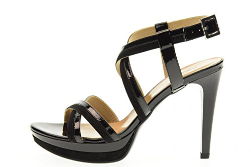 NERO GIARDINI chaussures femmes sandales P717871DE / 100 Black DzXGSeobZS