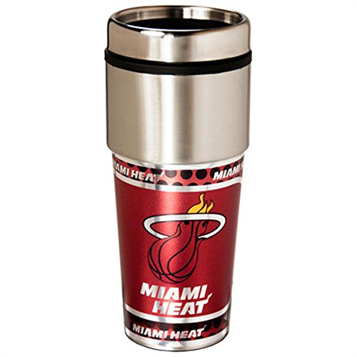 NEOPlex - Miami Heat Travel Mug Tumbler (Pga Store Outlet)