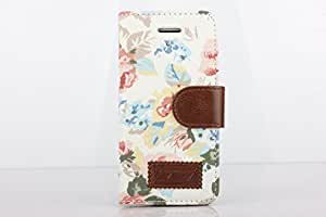 ArktisPRO Flower Power - Funda para Samsung Galaxy S IV, diseño de flores, color blanco