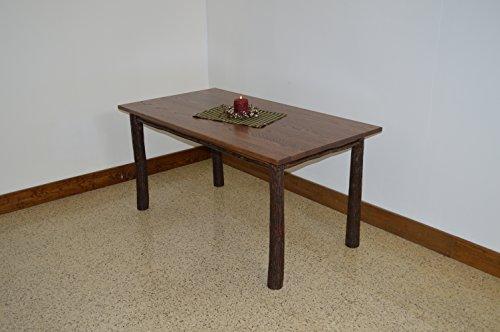 - A & L Furniture 2732 Hickory Farm Table, Walnut Finish