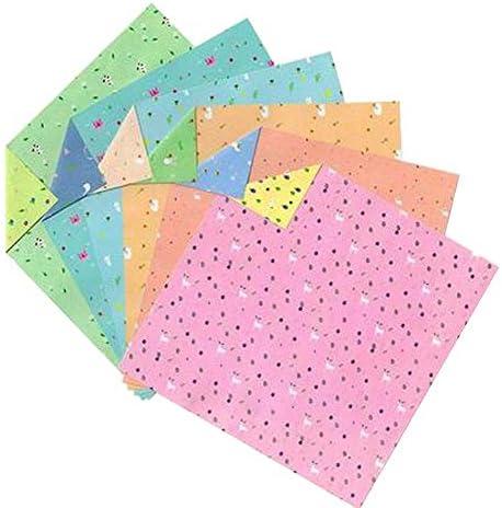 144枚のカラフルな正方形の折り紙のペーパークラフト折りたたみペーパー #18