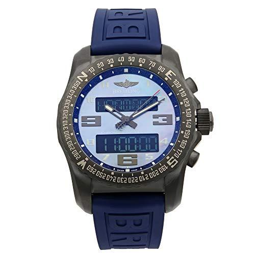 Breitling Cockpit B50 Black Titanium Men's Watch on Blue Twin Pro Rubber Strap VB501019/C932-261S