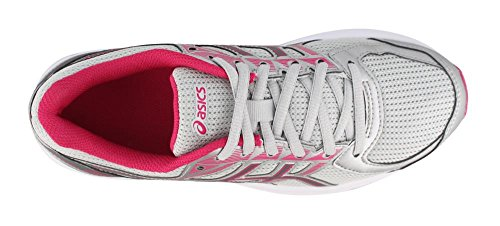 Asics Womens Jolt Glacier Grey / Carbon / Bright Rose