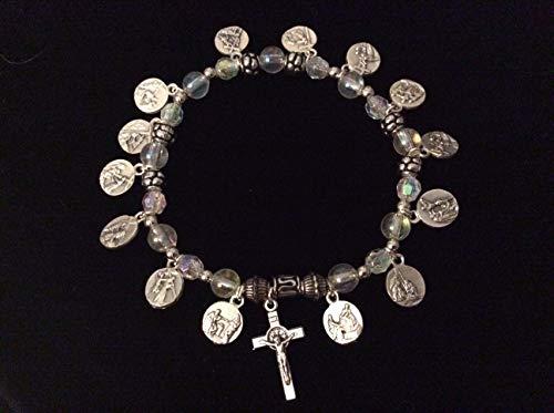 - 14 Stations of the Cross Stretch Bracelet Easter Jewelry Easter Bracelet