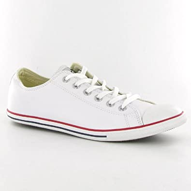 09c8e5b9f9a Converse Ct Star Slim Ox White Leather Mens Trainers  Amazon.co.uk  Shoes    Bags