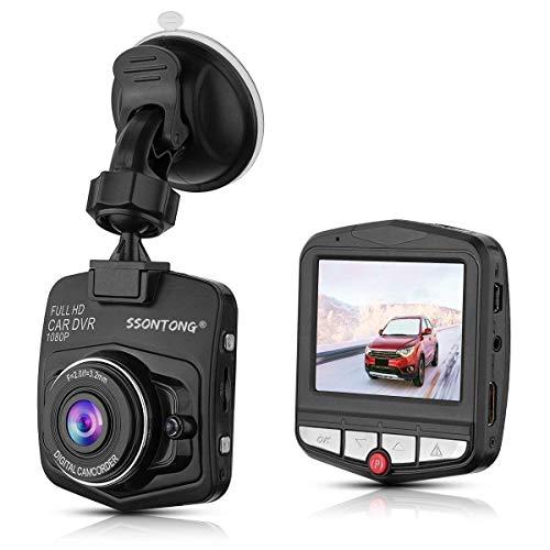 Black Recording - Dash Cam,Ssontong Mini Car Dashboard Camera, Full HD 1080P 2.31