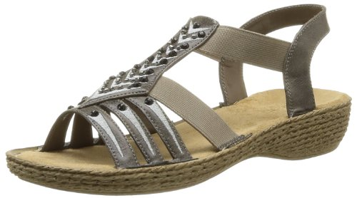 Women's Grey 65861 Sandals 45 Rieker EXPzqW0w