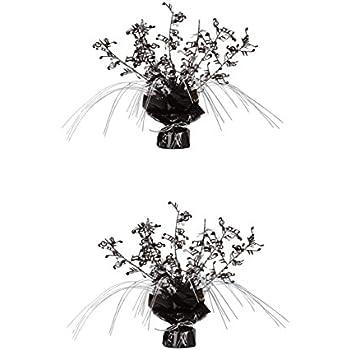 Magnificent Beistle S57921Az2 2 Piece Musical Notes Gleam N Spray Centerpieces 11 Black Silver Interior Design Ideas Ghosoteloinfo