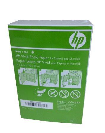 HP 4x6 Matte Vivid Photo Paper 180 Sheets CG465A Borderless (Matte Paper Photo 4x6)