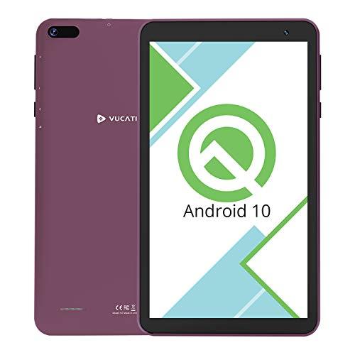 Tablet 7-Inch Android 10.0 Wi-Fi - VUCATIMES N7 16GB ROM Quad-Core Processor IPS HD Display Dual Camera Bluetooth 4.2 Google Certified Purple