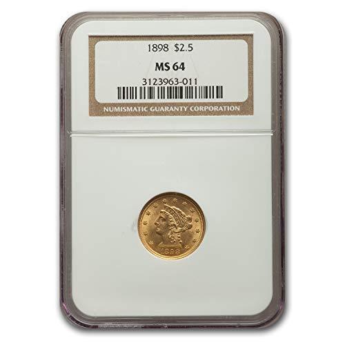 1898 $2.50 Liberty Gold Quarter Eagle MS-64 NGC Quarter MS-64 NGC